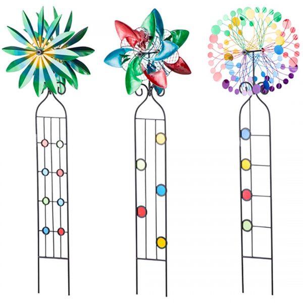 Wind Spinner Trellis Assorted Floral Design