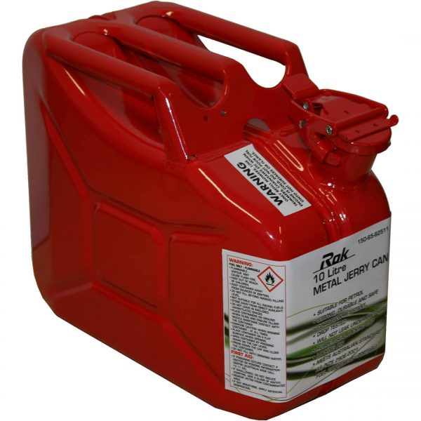 10L Metal Petrol Jerry Can