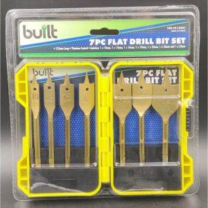 7pc Flat Drill Bit Set 125mm