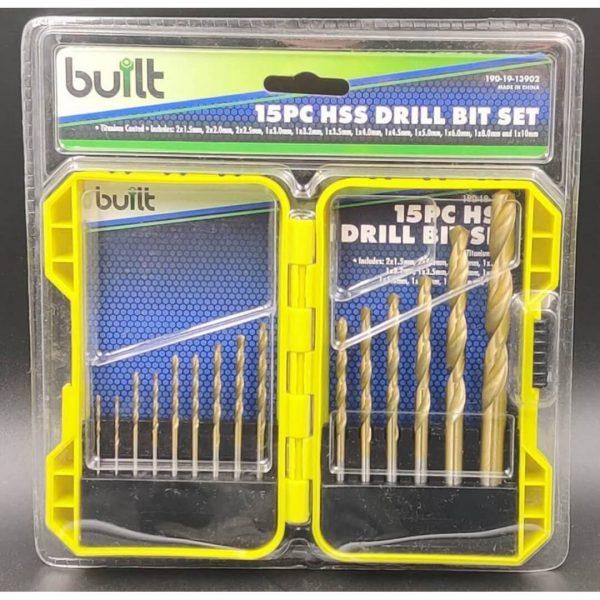 15pc HSS Drill Bit Set